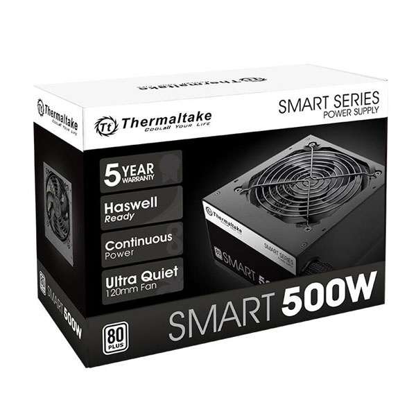 fuente-500w-thermaltake-smart-white-80-plus