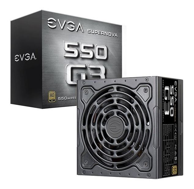 FUENTE 550W EVGA SUPERNOVA G3 80 PLUS GOLD