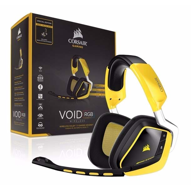 auriculares-corsair-es-void-pro-rgb-se-wireless-71-yellow
