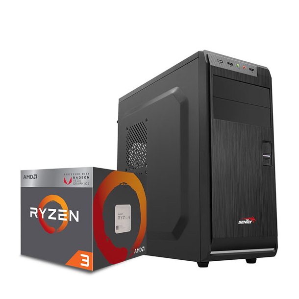 PC GAMER AMD RYZEN 3 2200G - B450 - 8GB - 1TB - KIT